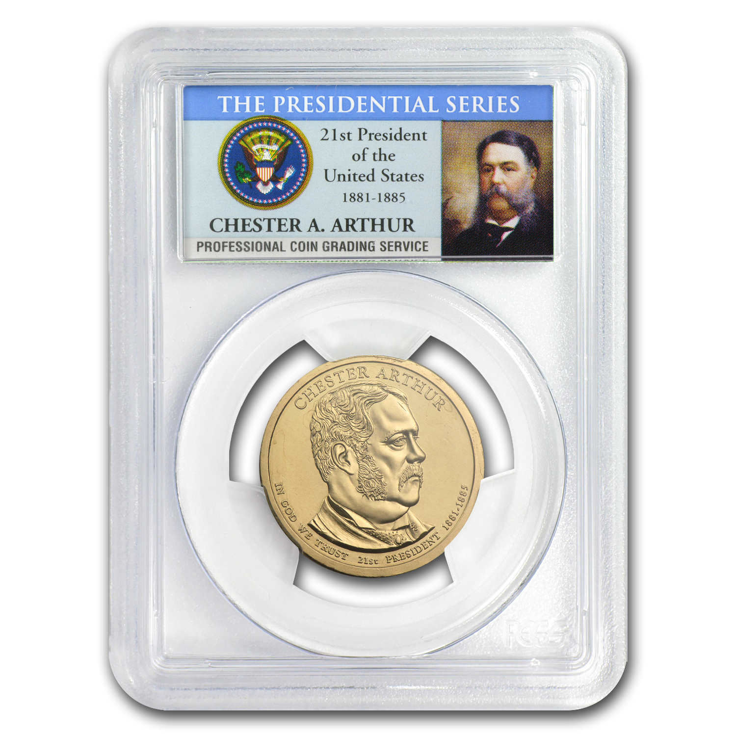 2012-P Chester Arthur Position A Presidential Dollar MS-67 PCGS